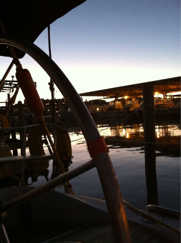 Dawn on the boat